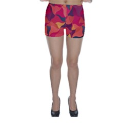 Red Orange Yellow Pink Art Skinny Shorts by yoursparklingshop