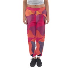 Red Orange Yellow Pink Art Women s Jogger Sweatpants by yoursparklingshop