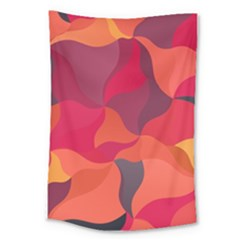 Red Orange Yellow Pink Art Large Tapestry by yoursparklingshop