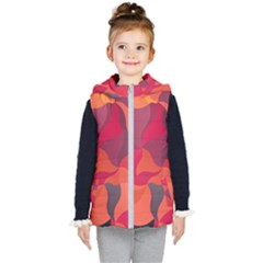 Red Orange Yellow Pink Art Kid s Hooded Puffer Vest