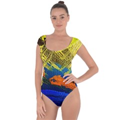 I Wonder 2 Short Sleeve Leotard  by bestdesignintheworld