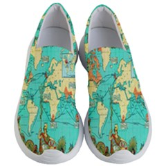 Vintage Map 1 Women s Lightweight Slip Ons