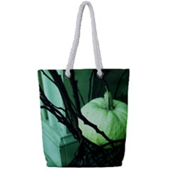Pumpkin 7 Full Print Rope Handle Tote (small) by bestdesignintheworld