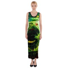 Abandoned Mine 3 Fitted Maxi Dress