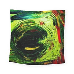 Abandoned Mine 3 Square Tapestry (small) by bestdesignintheworld