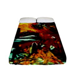 Grand Canyon Sunset Fitted Sheet (full/ Double Size) by bestdesignintheworld