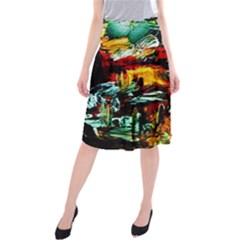 Grand Canyon Sunset Midi Beach Skirt