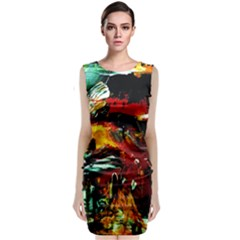 Grand Canyon Sunset Classic Sleeveless Midi Dress