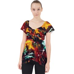 Grand Canyon Sunset Lace Front Dolly Top