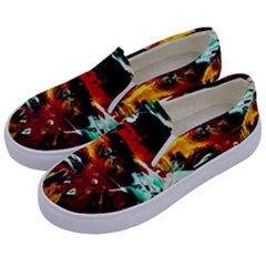 Grand Canyon Sunset Kids  Canvas Slip Ons by bestdesignintheworld