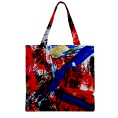 Mixed Feelings 9 Zipper Grocery Tote Bag by bestdesignintheworld