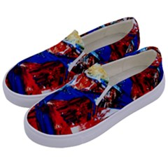 Mixed Feelings 9 Kids  Canvas Slip Ons by bestdesignintheworld