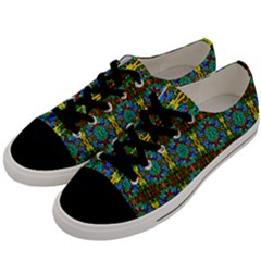 Colorful-29 Men s Low Top Canvas Sneakers by ArtworkByPatrick