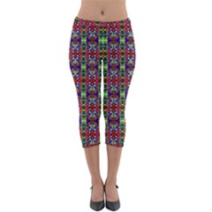 Colorful 30 Lightweight Velour Capri Leggings