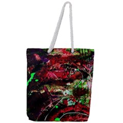 Bloody Coffee 2 Full Print Rope Handle Tote (large)