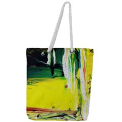 Poppies In An Abandoned Yard 10 Full Print Rope Handle Tote (large) by bestdesignintheworld