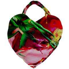 Red Cross 4 Giant Heart Shaped Tote by bestdesignintheworld