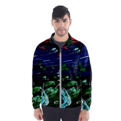 Tumble Weed And Blue Rose Wind Breaker (men) by bestdesignintheworld