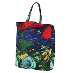 Tumble Weed And Blue Rose Giant Grocery Zipper Tote by bestdesignintheworld