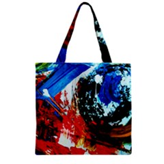 Mixed Feelings 4 Zipper Grocery Tote Bag by bestdesignintheworld