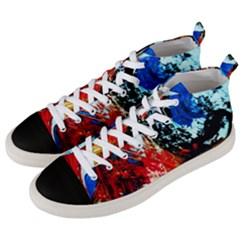 Mixed Feelings 4 Men s Mid Top Canvas Sneakers by bestdesignintheworld