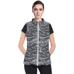 Dark Skin Texture Pattern Women s Puffer Vest by dflcprints