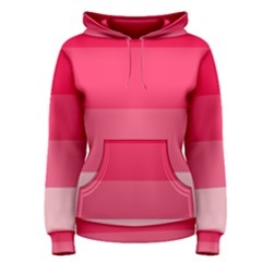 Pink Scarlet Gradient Stripes Pattern Women s Pullover Hoodie by yoursparklingshop