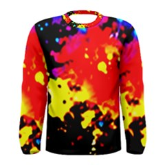Colorfulpaintsptter Men s Long Sleeve Tee
