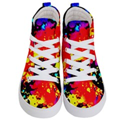 Colorfulpaintsptter Kid s Hi Top Skate Sneakers