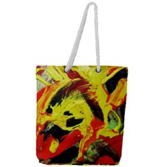 Fish And Bread1/1 Full Print Rope Handle Tote (large) by bestdesignintheworld
