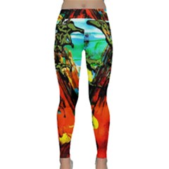 Camping 5 Classic Yoga Leggings by bestdesignintheworld