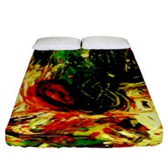 Sunset In A Desert Of Mexico Fitted Sheet (king Size) by bestdesignintheworld
