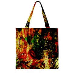 Sunset In A Desert Of Mexico Zipper Grocery Tote Bag by bestdesignintheworld