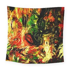 Sunset In A Desert Of Mexico Square Tapestry (large) by bestdesignintheworld