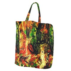 Sunset In A Desert Of Mexico Giant Grocery Zipper Tote by bestdesignintheworld
