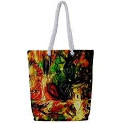 Sunset In A Desert Of Mexico Full Print Rope Handle Tote (small) by bestdesignintheworld