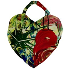 Irish Clock Giant Heart Shaped Tote by bestdesignintheworld