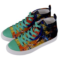 Lunar Eclipse 6 Women s Mid-top Canvas Sneakers by bestdesignintheworld