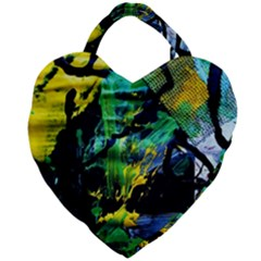 Rumba On A Chad Lake 10 Giant Heart Shaped Tote by bestdesignintheworld
