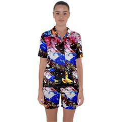 Smashed Butterfly 5 Satin Short Sleeve Pyjamas Set by bestdesignintheworld
