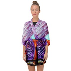 House Will Be Built 10 Half Sleeve Chiffon Kimono by bestdesignintheworld