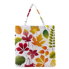 Beautiful Autumn Leaves Vector Grocery Tote Bag by Nexatart