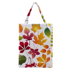 Beautiful Autumn Leaves Vector Classic Tote Bag by Nexatart