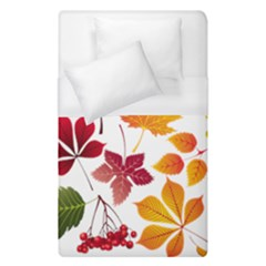 Beautiful Autumn Leaves Vector Duvet Cover (single Size)