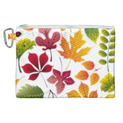 Beautiful Autumn Leaves Vector Canvas Cosmetic Bag (xl) by Nexatart