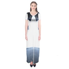 Portrait Panther Short Sleeve Maxi Dress by Modern2018