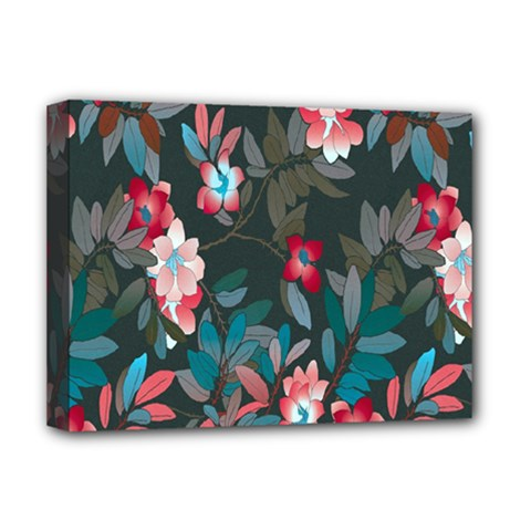 Floral Pattern Deluxe Canvas 16  X 12   by goodart