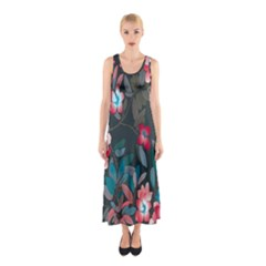Floral Pattern Sleeveless Maxi Dress by goodart