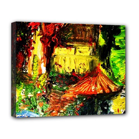 St Barbara Resort Deluxe Canvas 20  X 16   by bestdesignintheworld