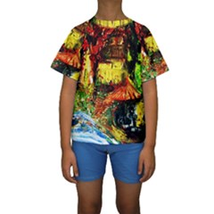St Barbara Resort Kids  Short Sleeve Swimwear by bestdesignintheworld